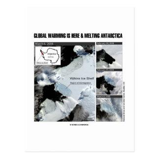 Postal El calentamiento del planeta está aquí y la