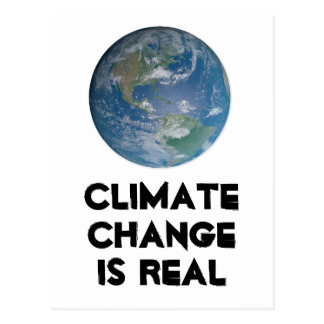 Postal El cambio de clima es real. Proteja el ambiente