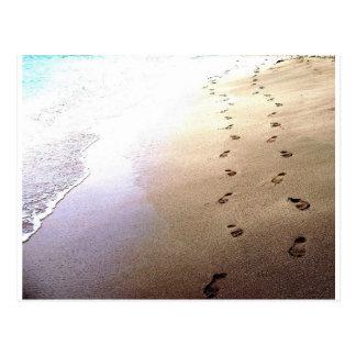 Postal El caminar de los pares de Barbados del amor de la