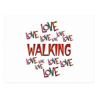 Postal El caminar del amor del amor