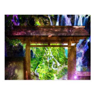Postal El camino del universo del arco iris al paraíso