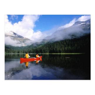 Postal El Canoeing en el lazo internacional de Selkirk