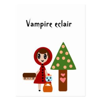 Postal El Caperucita Rojo resuelve el Eclair del vampiro