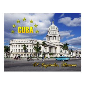 Postal EL Capitolio (capitolio nacional), La Habana, Cuba