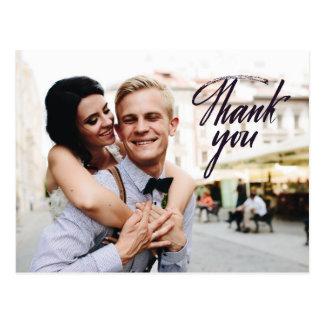 Postal El casarse le agradece las fotos de encargo de la