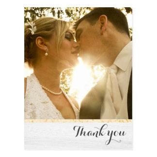 Postal El casarse le agradece oro y blanco