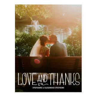 Postal El casarse vertical del amor y de las gracias le