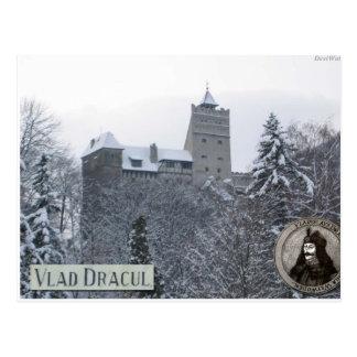 Postal El castillo de Drácula, foto del vintage
