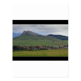 Postal El castillo de Spis el castillo más grande del