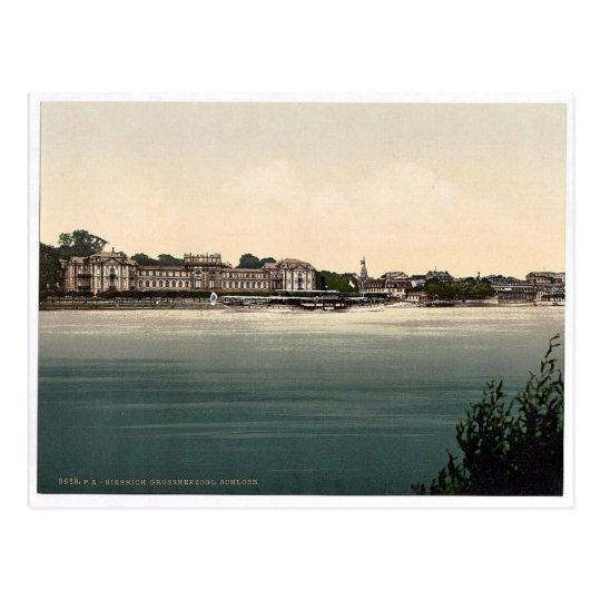 Postal El castillo del duque magnífico, Biebrich, el Rin,