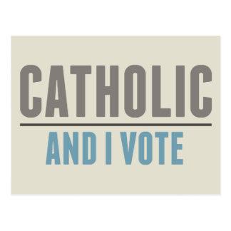 Postal El católico y yo votamos