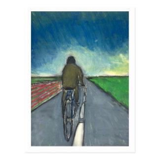 Postal El ciclista/ciclista flamenco