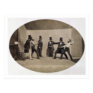Postal El combatir en duelo (foto)