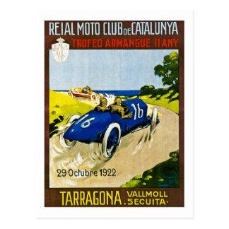 Postal El competir con del vintage de Reial Moto Club de