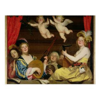 Postal El concierto, 1624