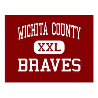 Postal El condado de Wichita - Braves - joven - Leoti