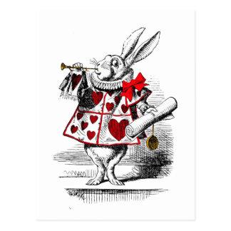 Postal El conejo blanco