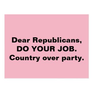 Postal El congreso hace su país del trabajo sobre rosa
