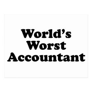 Postal El contable peor del mundo