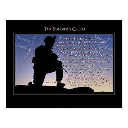 Postal El credo del soldado