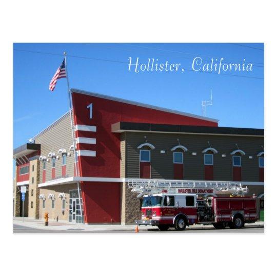 Postal El cuerpo de bomberos de Hollister