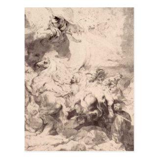 Postal El daño de Sennaherib de Peter Paul Rubens