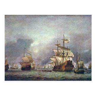 Postal El de cuatro días durante la batalla de 1666