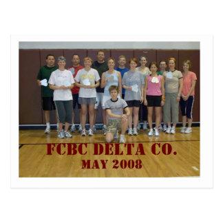 Postal El DELTA CO. de FCBC, puede 2008