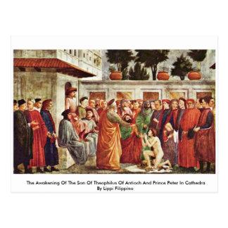 Postal El despertar del hijo de Theophilus de Antioch