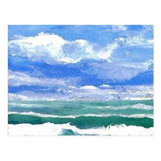 Postal El despertar - productos del arte de las olas