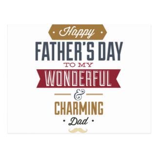 Postal El día de padre feliz