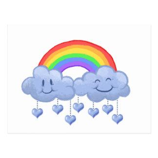 Postal El día de San Valentín del amor de la nube
