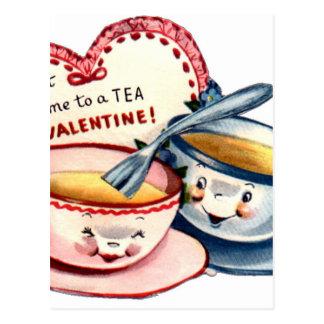 Postal El día de San Valentín retro del vintage