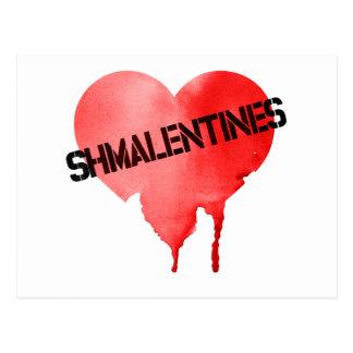 Postal El día de Shmalentine del el día de San Valentín