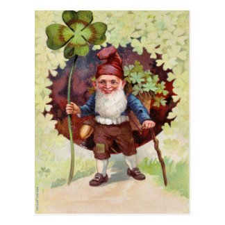 Postal El día de St Patrick del vintage