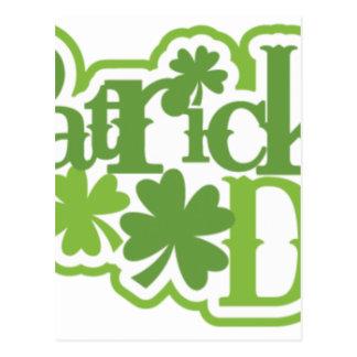 Postal El día de St Patrick, diseño del irlandés de San