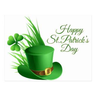 Postal El día de St Patrick feliz, santo irlandés del