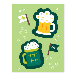 Postal El día de St Patrick lindo tiene una bebida en