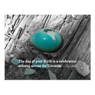 Postal El día de su nacimiento es…