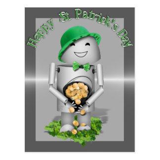 Postal El día Lil afortunado Robo-x9 de St Patrick