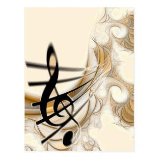 Postal El diseño del amante de la música