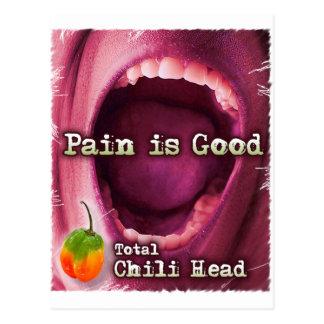 Postal El dolor es buena cabeza de Chile