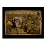 Postal El Dr. Jekyll y Sr. Hyde Vintage Poster