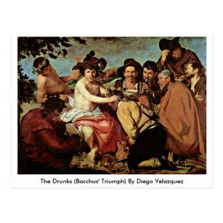 Postal El Drunks (Triumph de los Bacchus) por Diego
