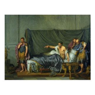 Postal El emperador Severus que reprende a su hijo