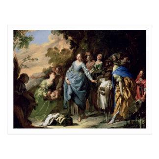 Postal El encontrar de Moses, c.1650-56 (aceite en lona)
