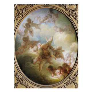 Postal El enjambre de los Cupids, c.1767