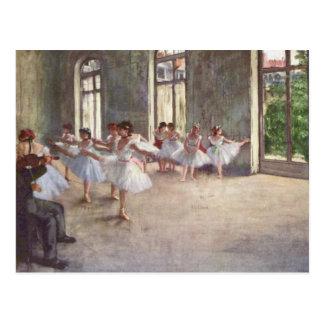 Postal El ensayo del ballet cerca desgasifica
