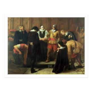 Postal El entierro de Charles I (1600-49) en San Jorge
