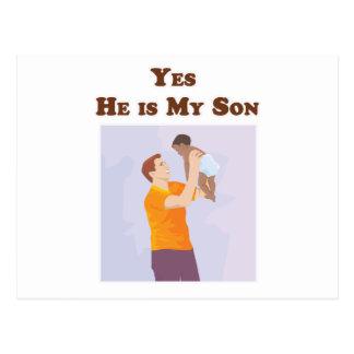 Postal Él es sí mi hijo